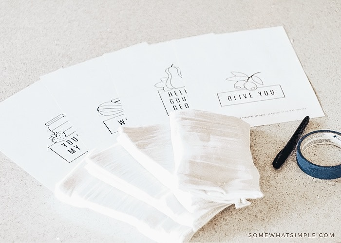 How to trace sharpie markers onto tea towels
