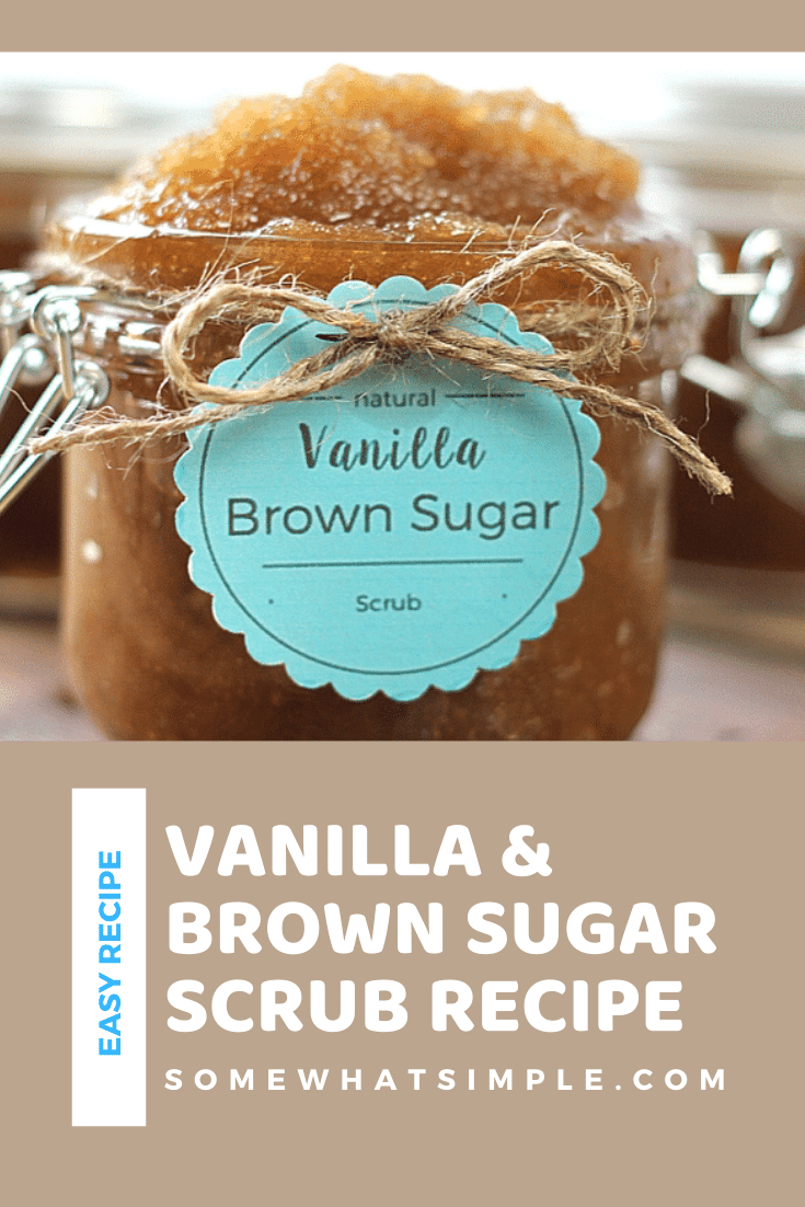 This vanilla brown sugar scrub is an easy and inexpensive way to pamper yourself. This DIY beauty scrub will give you silky smooth skin in no time! The recipe is super easy to make and also makes a great holiday gift idea. via @somewhatsimple