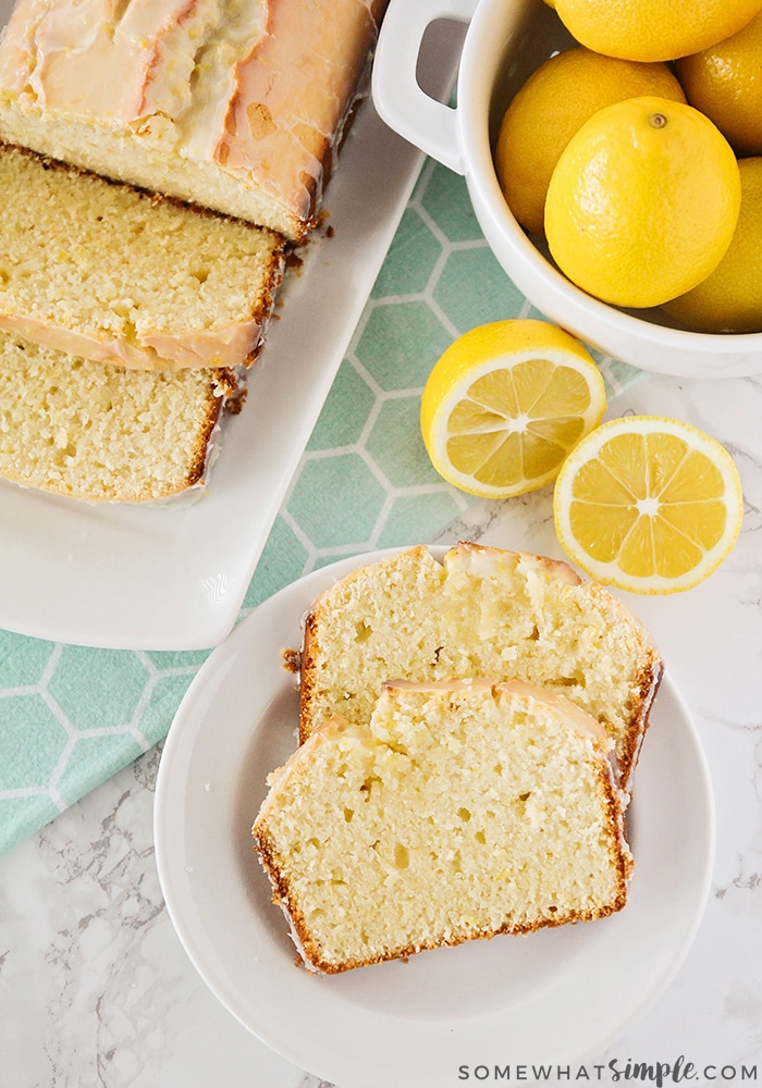 This delightfully sweet and tart lemon pound cake is the perfect dessert for spring! It's bursting with fresh lemon flavor, and easy to make, too!