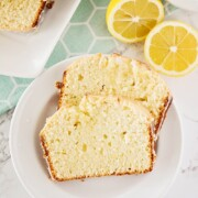 slices of lemon pound cake