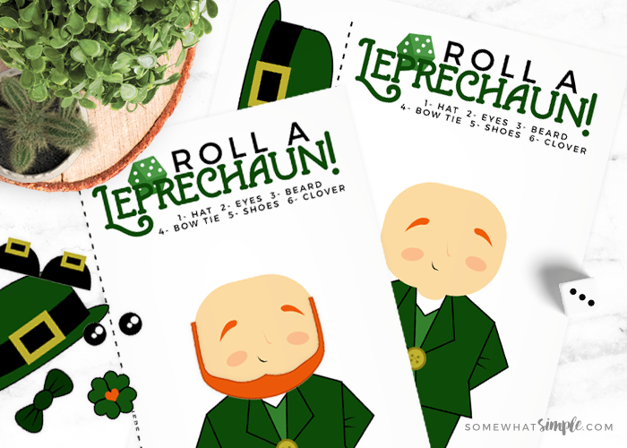 Leprechaun Games – Roll a Leprechaun Dice Activity!