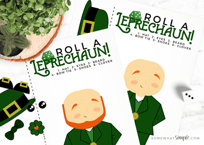 Leprechaun Games – Roll a Leprechaun Dice Activity!