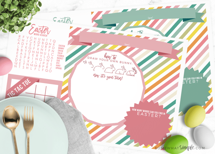 photo relating to Printable Placemats named Easter Placemats - Cost-free Printable for Little ones - Fairly Straightforward