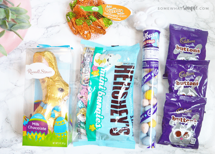 a variety of Easter candy