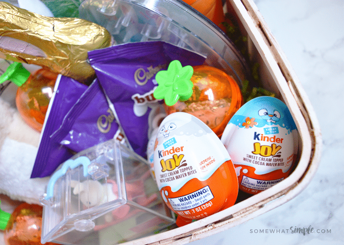 a basket of Easter candy
