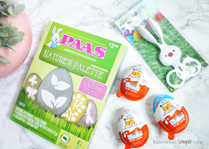 a variety of Easter items