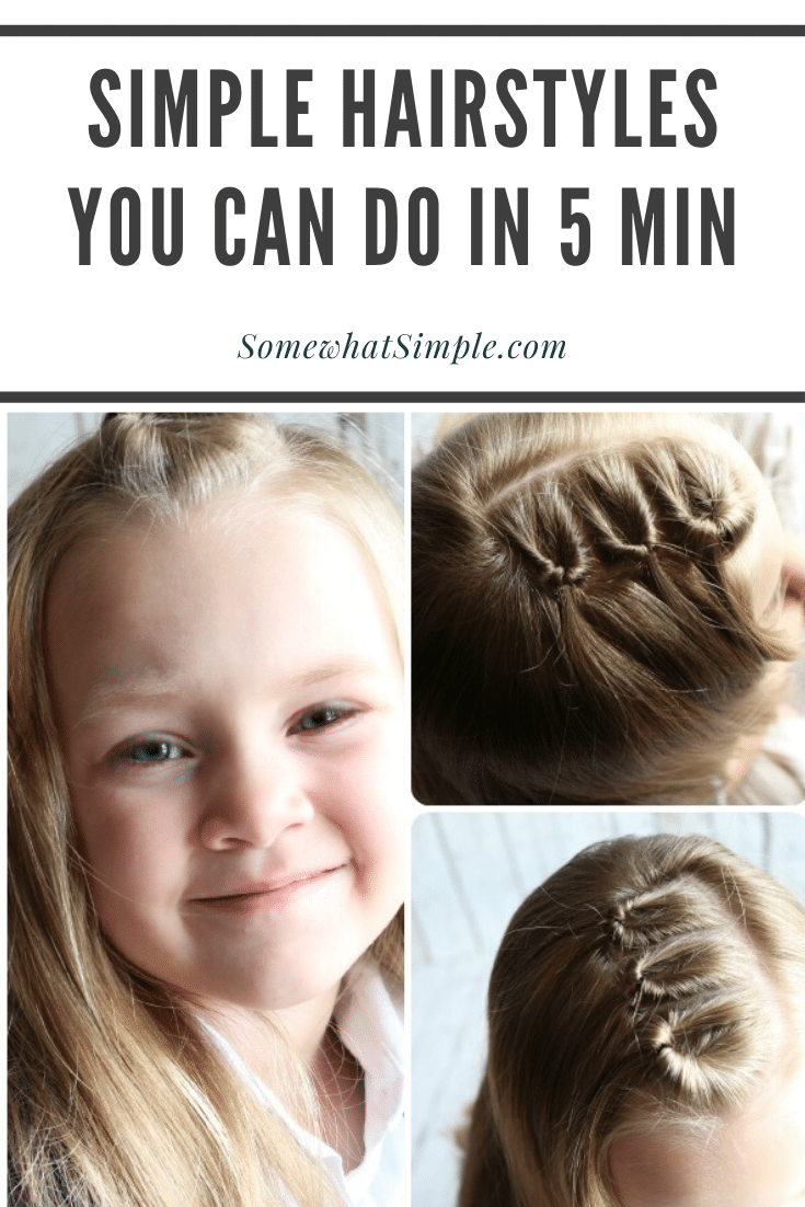 10 easy hairstyles for girls that won't add any extra prep time to your already crazy mornings! Each one of these are so simple they can be done in 5 minutes! #easygirlhairstyles #girlhairstylesforlonghair #girlhairstylesforweddings #easygirlhairstylesforschool #fastgirlhairstyles via @somewhatsimple