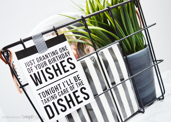 Birthday Gift Idea – Night Off From Dishes!