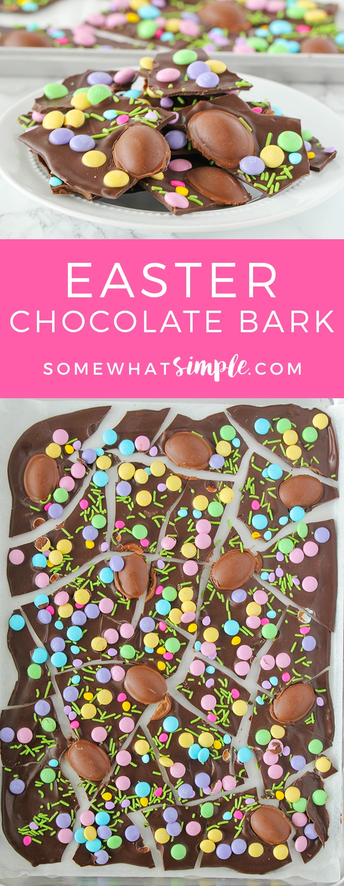 If you've never made chocolate bark before, you are in for a special treat! This chocolate bark recipe is not only super easy to make, it can also be customized to match any season or holiday of the year!