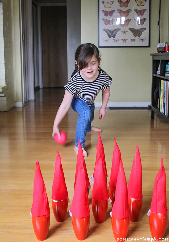 This adorable and fun gnome bowling set is so quick and easy to make, and is the perfect family activity to do with the kids!