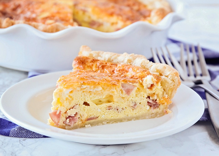 Ham And Cheese Quiche An Easy Quiche Recipe Somewhat Simple