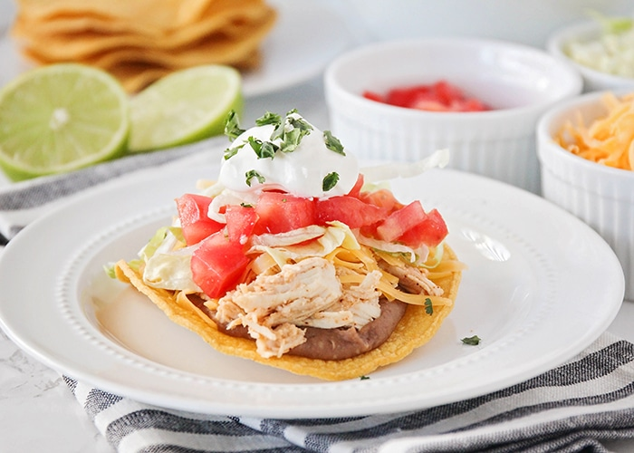 a Honey and Lime Chicken tostada
