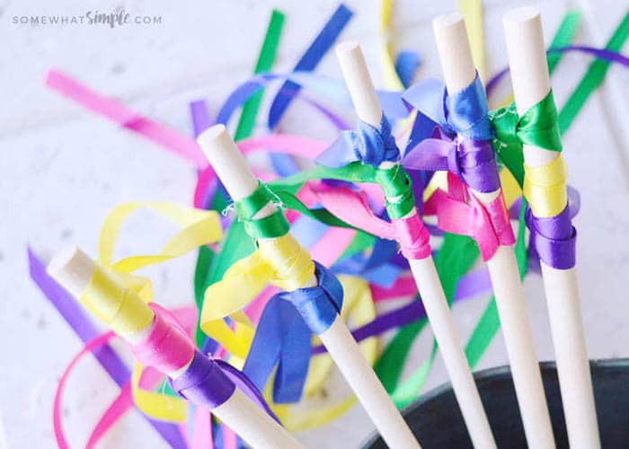 diy ribbon wands that are so easy to make