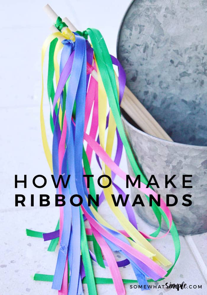 how to make an easy diy ribbon wand
