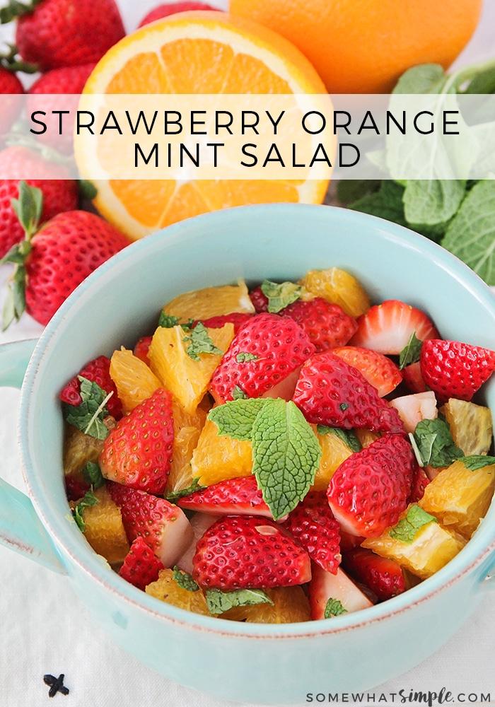 Strawberry Orange Mint Salad
