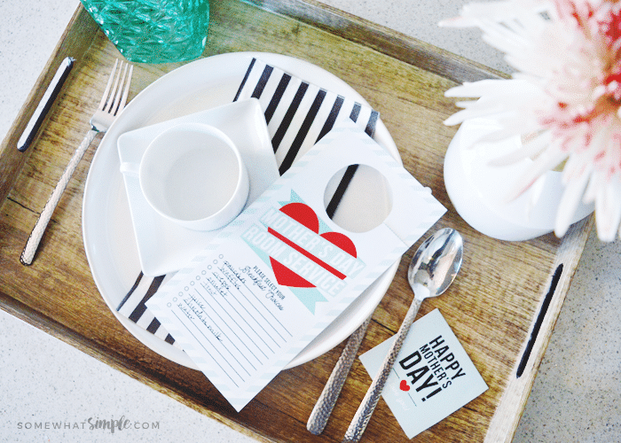 Mother's Day Breakfast in Bed – Room Service Printables