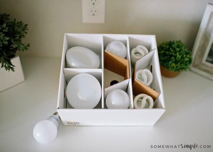 box for light bulbs