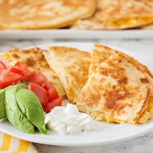 Cheesy Chicken Quesadilla Recipe