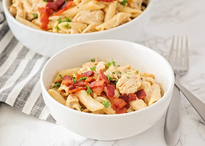 Chicken Pasta with Ranch in the Slow Cooker