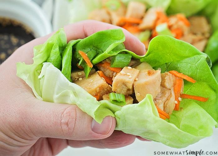 easy chicken teriyaki lettuce wraps