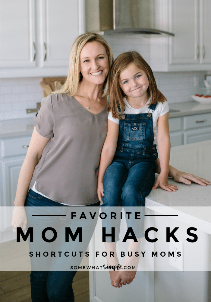 Tackle your least-favorite chores with the BEST Time-Saving Mom HACKS! Time-saving tips, surprising strategies and ridiculously simple recipes! via @somewhatsimple