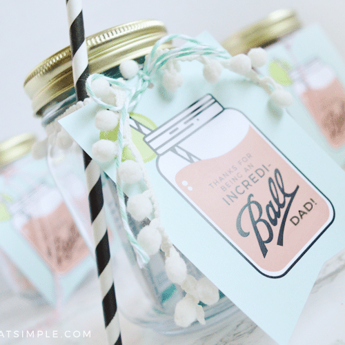 Father's Day Mason Jar Gift Tags