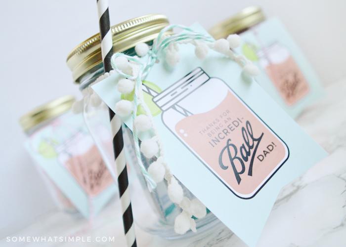 Father's Day Mason Jar Gift Tags – Free Printables!