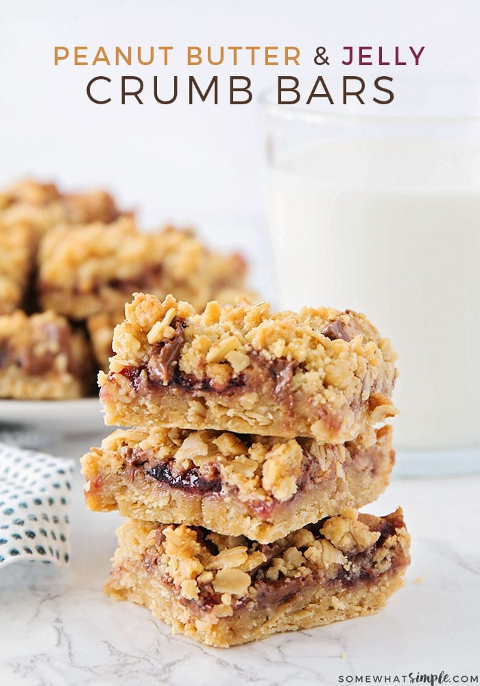 Easy Peanut Butter and Jelly Crumb Bars