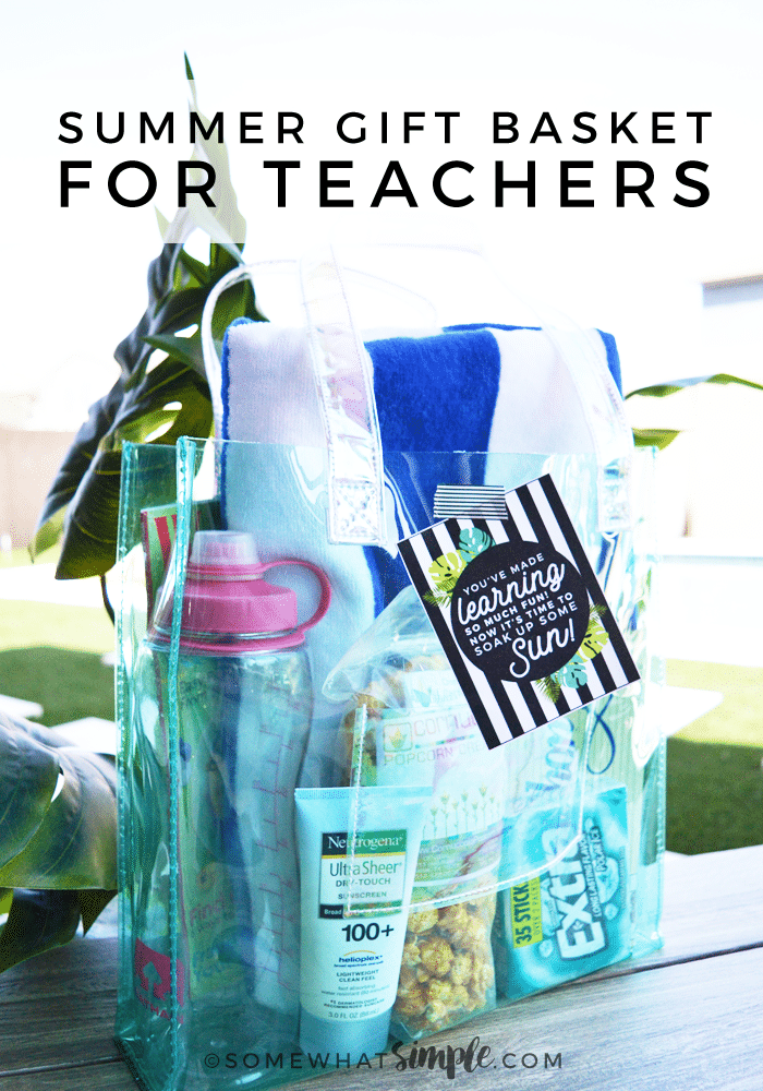 This Summer Beach Bag Is A Fun And Unique Teacher Reciation Gift Idea It S Simple