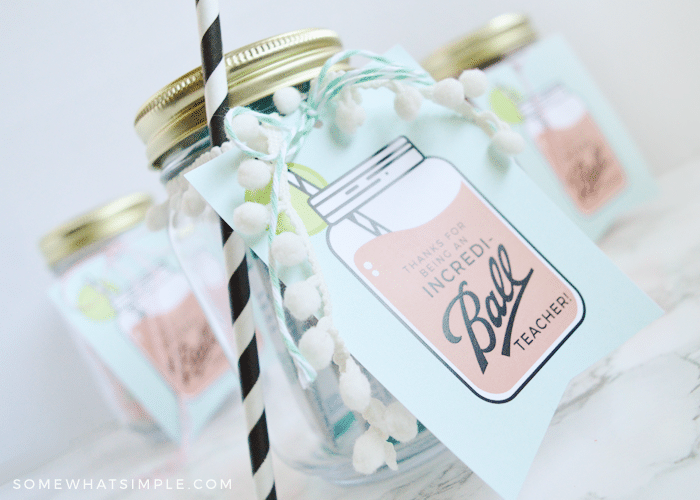 Mason Jar Gifts For Teachers Free Gift Tags Somewhat Simple