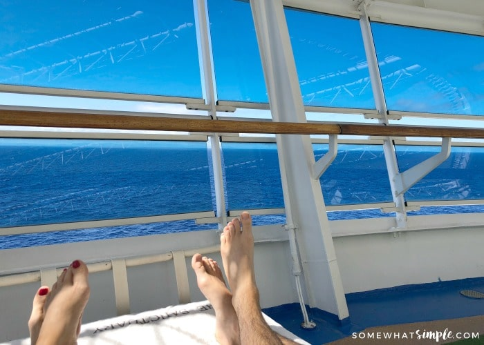 Adults only deck on cruise