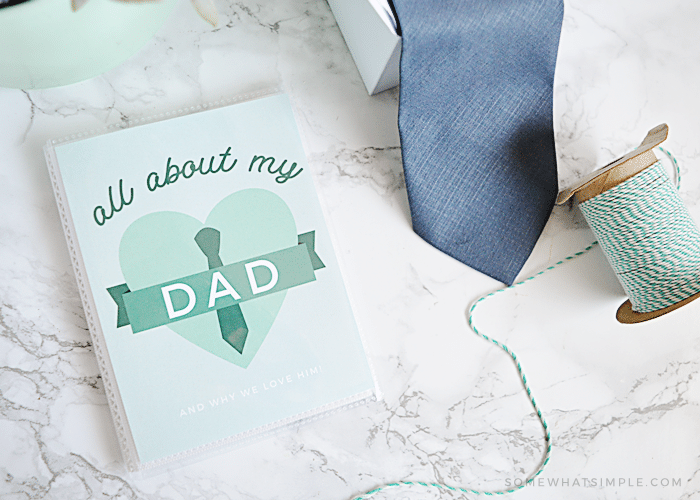 All About My Dad Printable Book Somewhat Simple