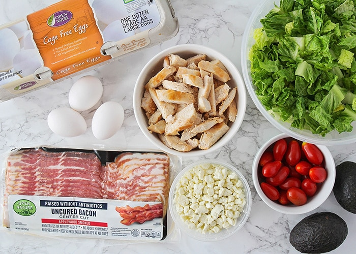This classic cobb salad is so fresh and delicious, and is the perfect summer meal! It's loaded with protein, and quick and easy to make.