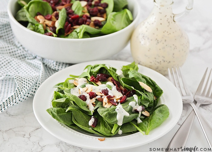Cranberry Almond Spinach Salad Recipe Somewhat Simple