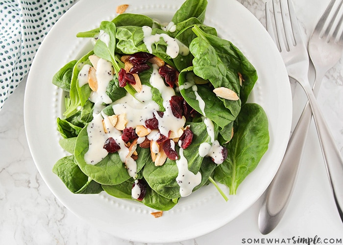 spinach salad with cranberries and almonds recipe