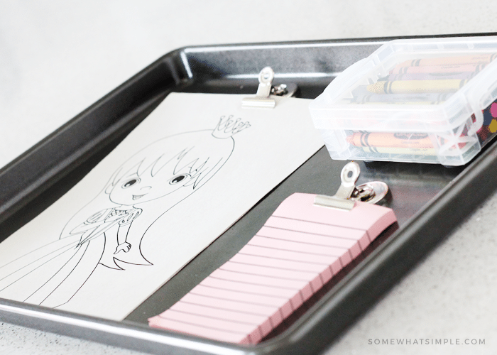 Make Road Trip Travel Trays That Double As A Chalkboard And Are Easy To Put Away Since They Slide Right Under Your Car Seats