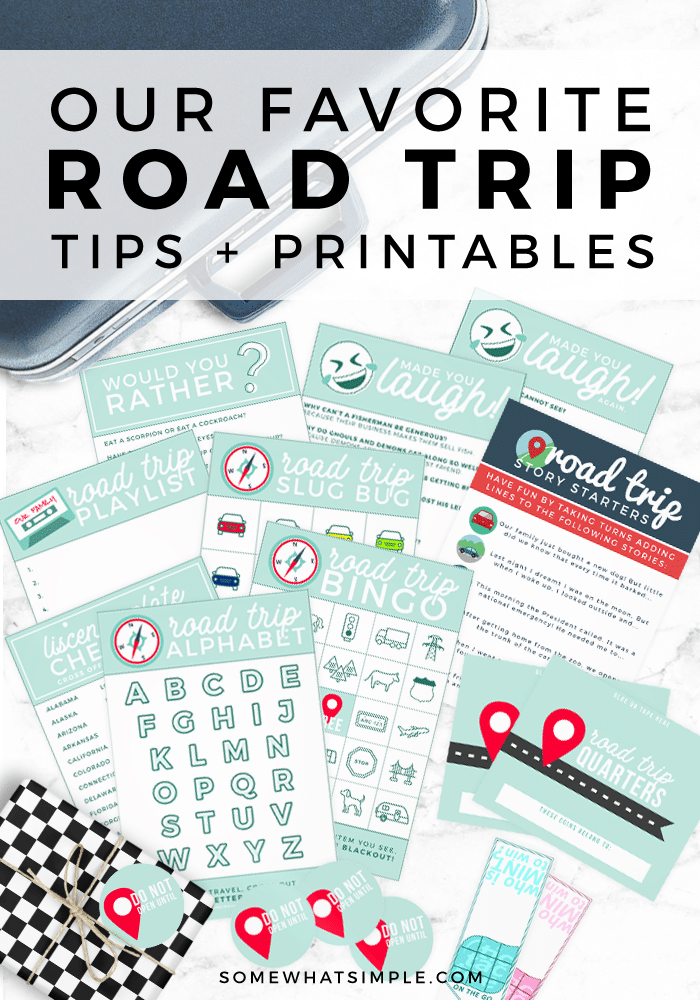 Our Favorite Road Trip Tips Printables Somewhat Simple
