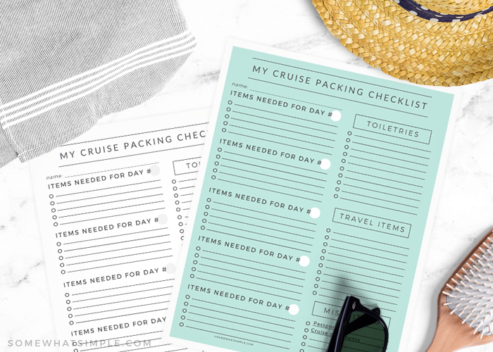 Printable Cruise Packing List + What to Pack for a Cruise