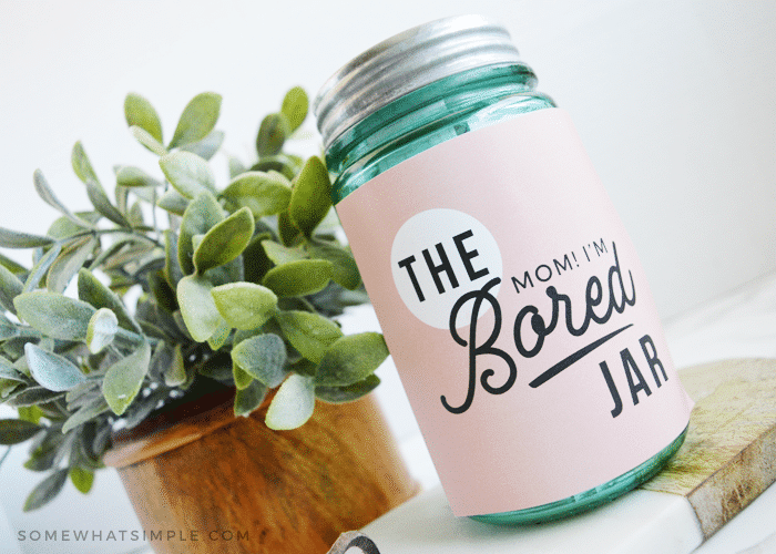 mom I'm bored jar for kids printable kit labels activities summer boredom buster