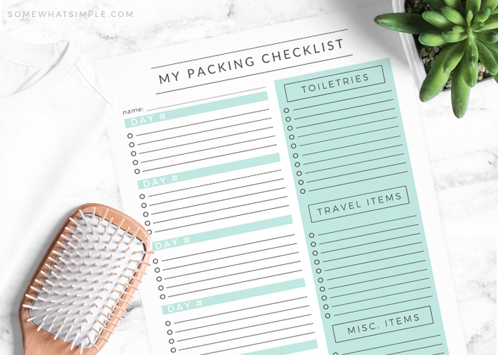 Travel Packing List – Free Printable