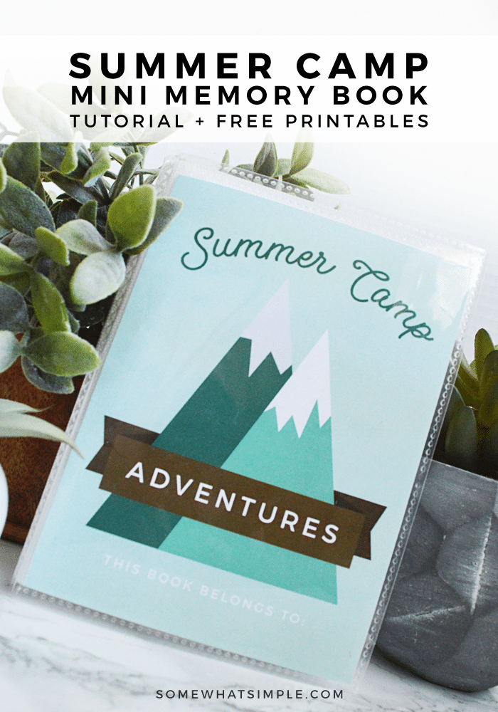 summer camp journal adventure mountains cute darling mini scrapbook memory book kids fun free printable