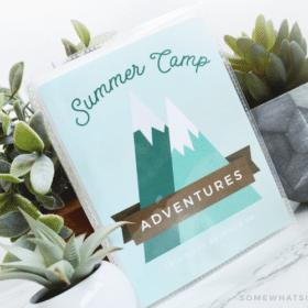 summer camp journal mini scrapbook memory book kids fun free printable