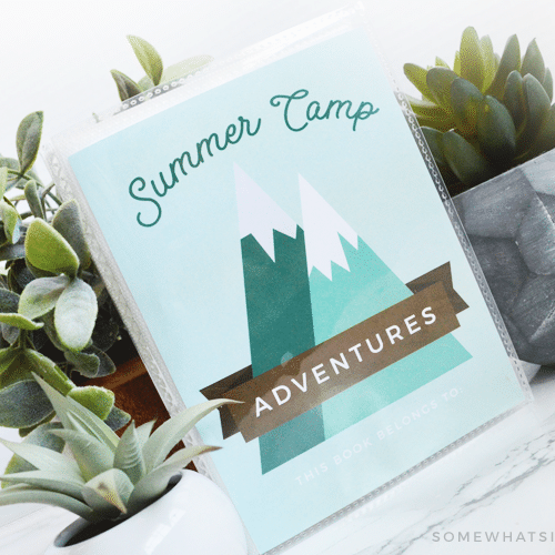 summer camp journal mini scrapbook memory book kids fun free printable