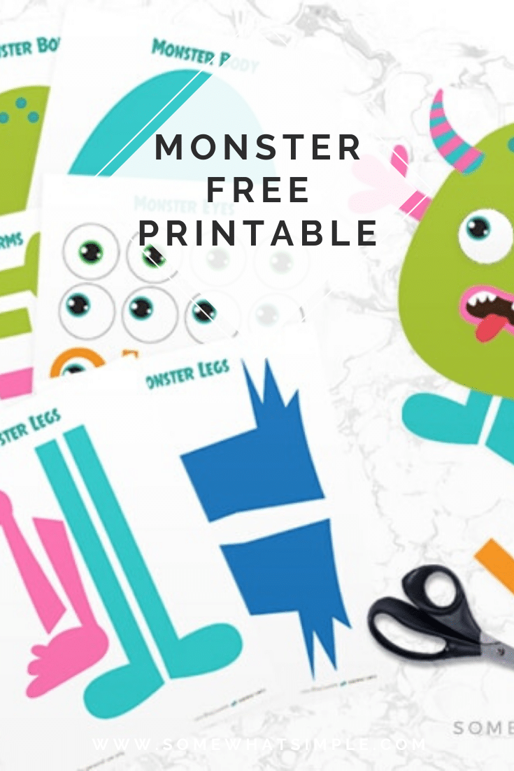 Are you looking for something to keep little hands busy? Try this adorable Build A Monster Printable Kit! This free printable is a fun activity your kids will love! All you need are office supplies and some imagination! This activity is especially fun to make around Halloween! #buildamonsterprintable #buildamonsterfreeprintable #buildamonsterkit #makeamonsterfreebie #buildamonstercraft via @somewhatsimple