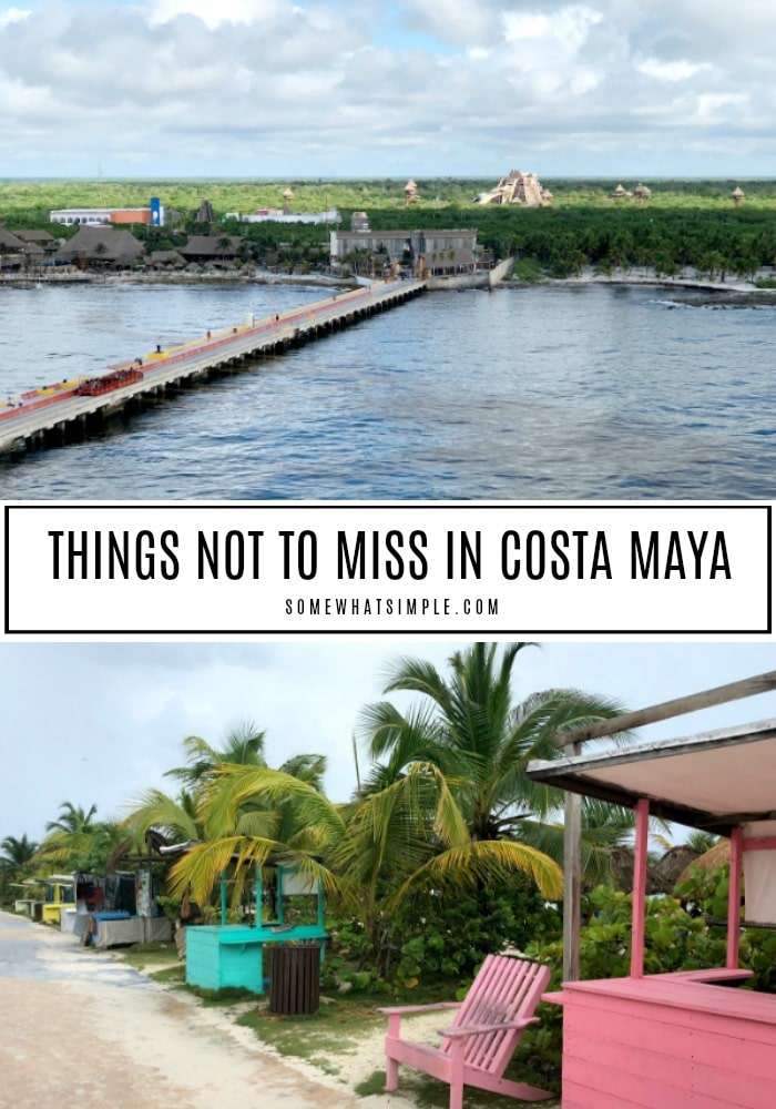 There are plenty of things to do in Costa Maya Mexico - here are 5 things you don't want to miss! #CostaMayacruiseport #costamayamexico #costamayaexcursions #costamayamexicocruiseport via @somewhatsimple