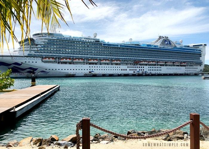 Princess Cruises Ship docked in Roatan Honduras