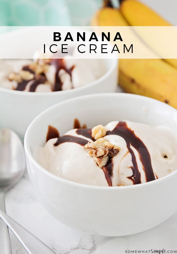 This homemade soft-serve banana ice cream has just two ingredients, and takes only a few minutes to make. It's the perfect healthy treat for a hot day!