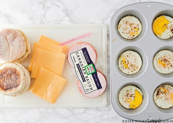These delicious and filling make ahead breakfast sandwiches are the perfect way to save time on a busy morning! Cook once, and enjoy them all week!
