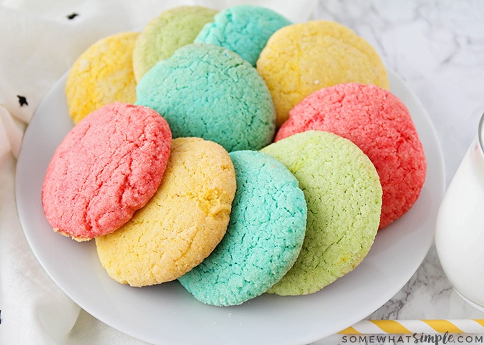 Easy Colorful Jello Cookies Recipe Somewhat Simple