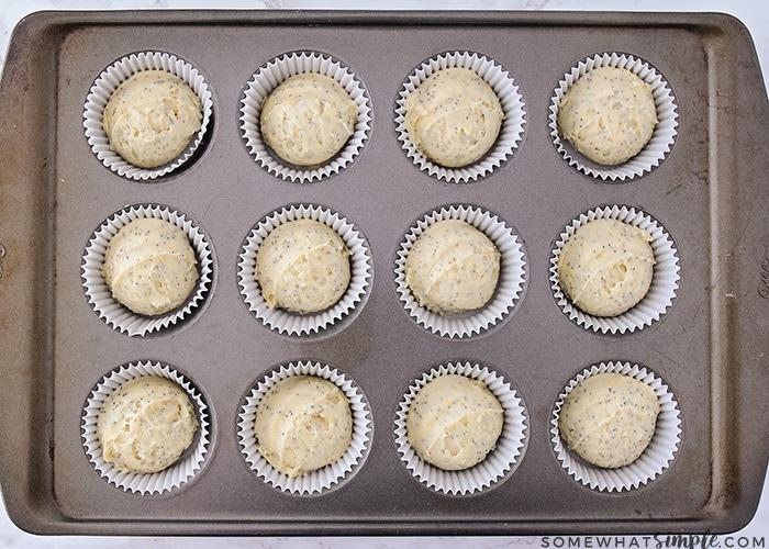 How to Make Lemon Poppyseed Muffins